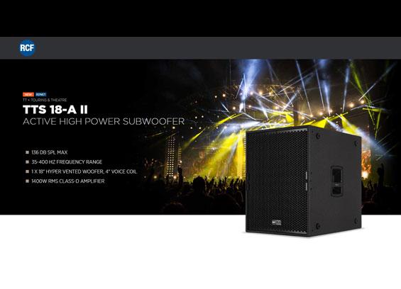 Speaker Subwoofer Aktif RCF TTS15-A dan RCF TTS18-A MK2