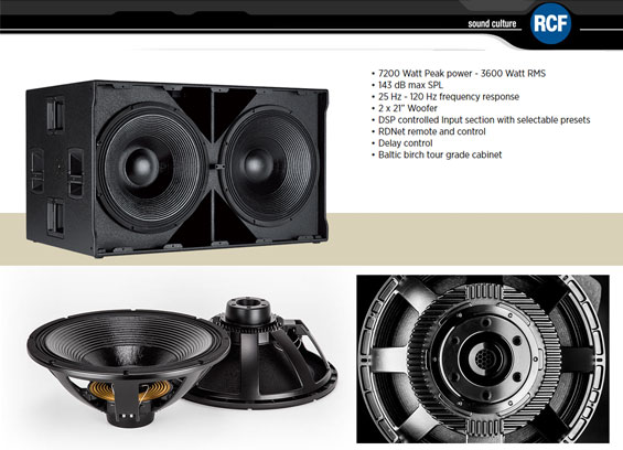 Speaker Subwoofer Aktif RCF SUB 9007-AS