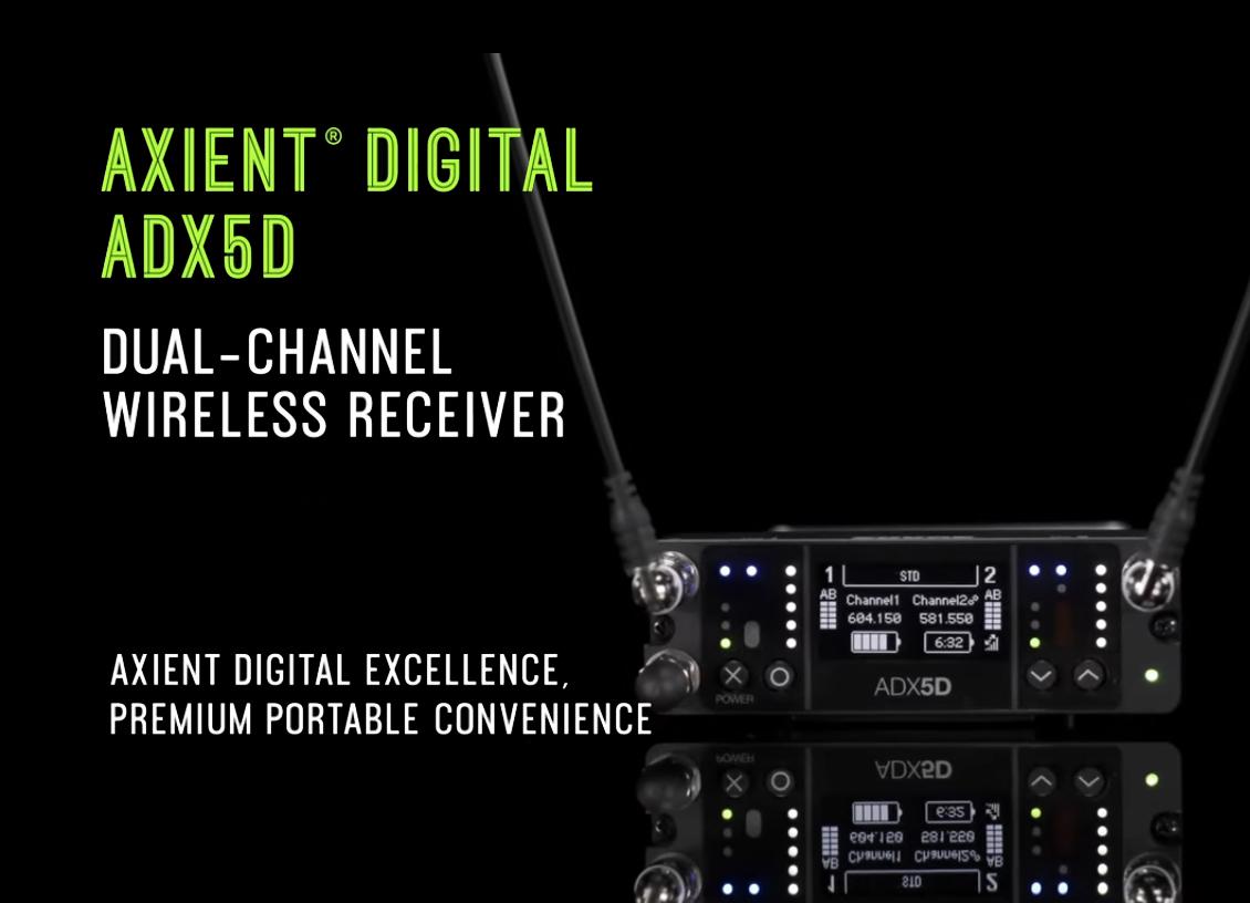 Wireless Shure Axient Digital ADX5D