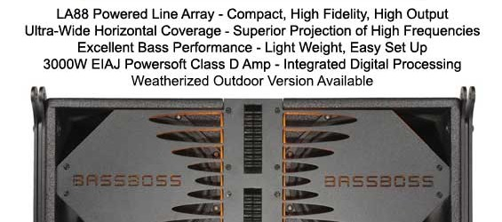 Sound System Line Array Bassboss LA88