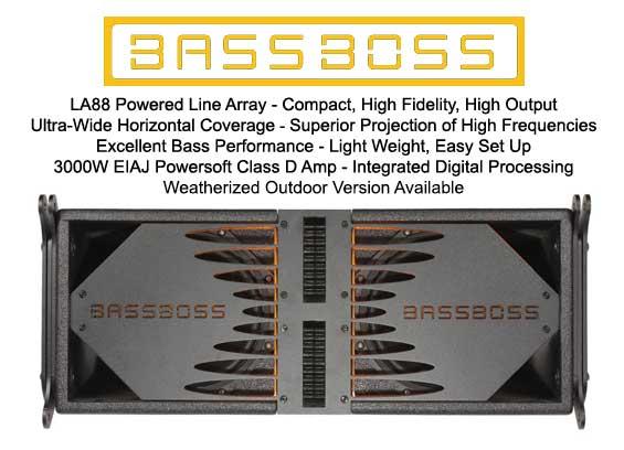 Sound System Line Array Bassboss LA88