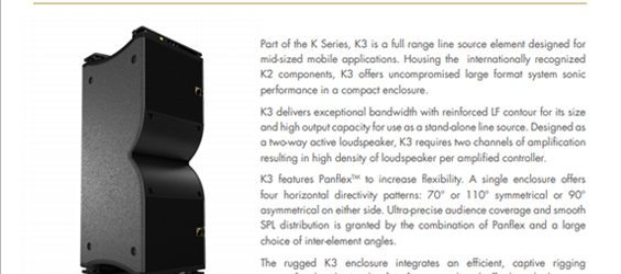 Sound System Linearray L-Acoustics K3