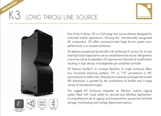 Sound System Linearray L-Acoustics K3