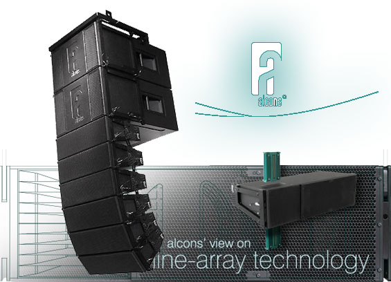 Sound System Line Array Alcons Audio LR18