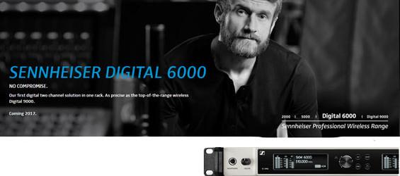 Mikrofon Wireless Digital Sennheiser Seri 6000