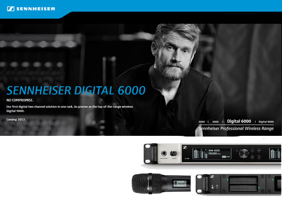 Mikrofon Wireless Digital Sennheiser Seri 6000