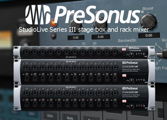 Mixer Rak Digital Presonus StudioLive Seri III