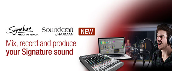 Mixer Audio Soundcraft Signature 22MTK dan Signature 12MTK