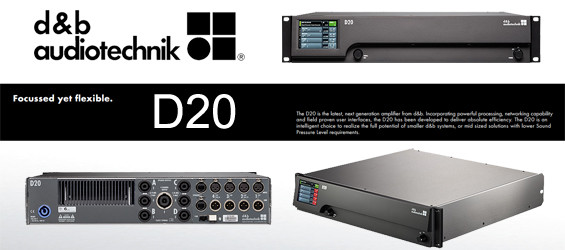Power Amplifier Digital Empat Kanal d&b Audiotechnik D20
