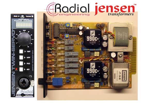 Preamplifikasi Mikrofon Radial Jensen Twin Servo 500