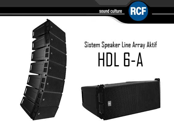 Speaker Line Array Aktif RCF HDL 6-A