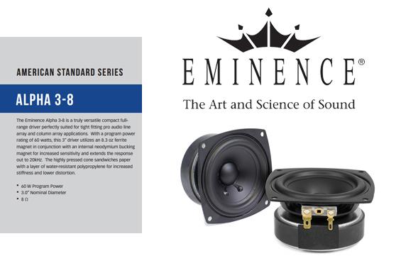 Komponen Speaker Eminence Alpha 3
