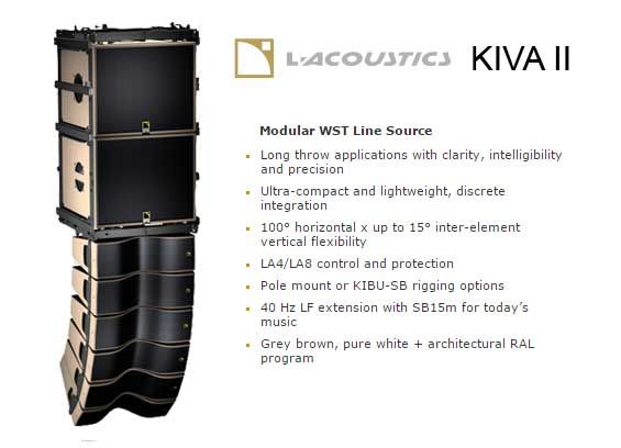 Sound System Line Array L-Acoustics Kiva II