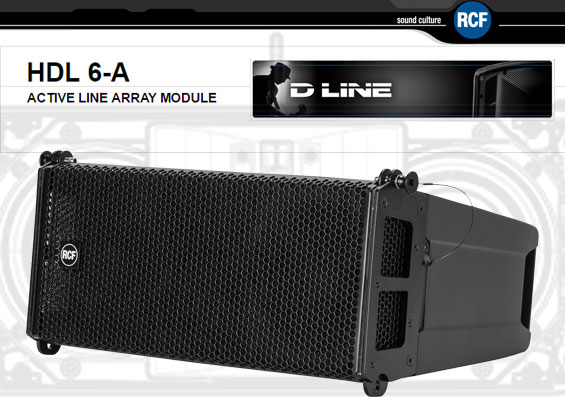 Sound System Line Array Aktif RCF HDL6-A