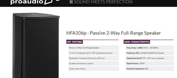 Speaker Sound System NEXT HFA106p