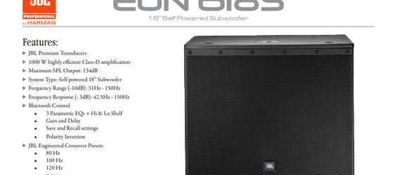 Speaker Subwoofer Aktif JBL EON618S