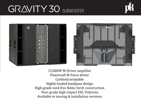 Speaker Subwoofer Aktif PK Sound Gravity 30