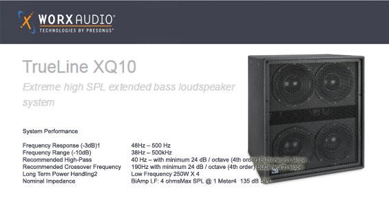 Speaker Subwoofer Aktif WorxAudio TrueLine XQ10